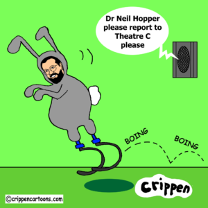 cartoon of Dr Neil Hopper