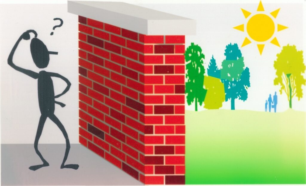 A visual representation of disabling barriers.