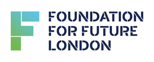 Large F with Foundation for Future London printed in text