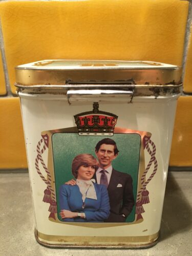 My Charles and Diana tea caddy