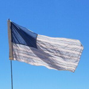 photo of a flag artwork