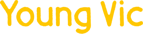 Young Vic theatre logo. Yellow text reads 'Young Vic' on a white background.