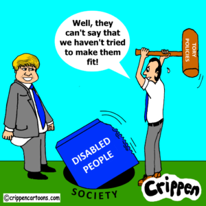cartoon about disabled people not fitting into society