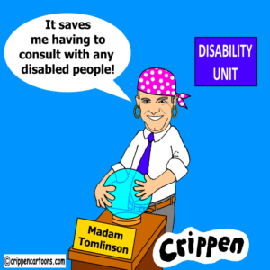 cartoon about National Disability Strategy survey