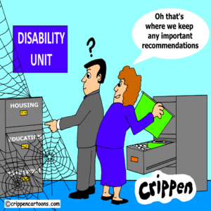 cartoon about accessible housing report