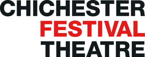 Chichester Festival Theatre Logo. Chichester in black, above festival in red, above theatre in black.