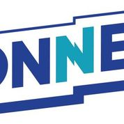 Logo using the word CONNECT in dark blue and light blue, positioned on a slight diagonal left to right.