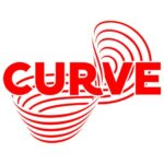 Curve in capital red text with a multi line red infinity logo intersecting it.