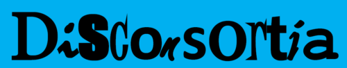 Disconsortia logo is a blue rectangle with bold fonts stating the name of the organisation - Disconsortia.