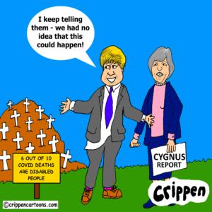 cartoon about Cygnus report