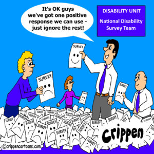 cartoon about disability unit sham