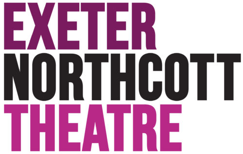 Exeter in bold purple capital text, above Northcott in black bold capital text, above Theatre in bold pink capital text.