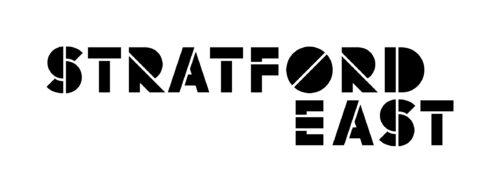 Theatre Royal Stratford East logo, bold black capitalised text on a white background.