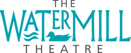 The Watermill Theatre Logo. The WaterMill with two lines representing water under the A and a duck under ER, the word Theatre sits below.