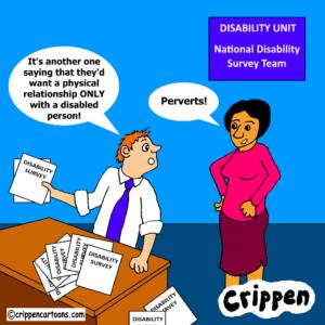 cartoon about national disability survey