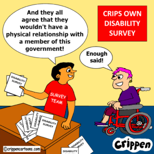 cartoon about response to disability survey