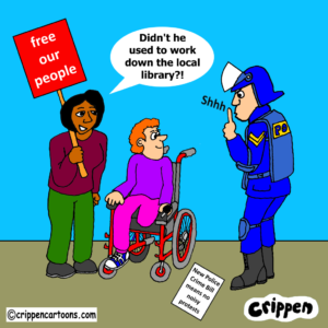 cartoon about new Police Crime Bill