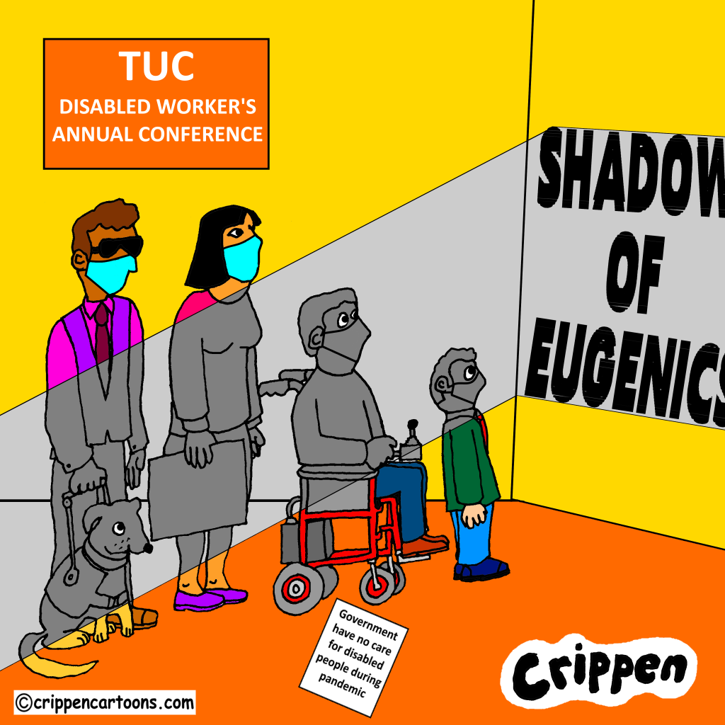 cartoon about TUC disability conference