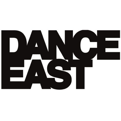 Dance East in bold black text on a white background.