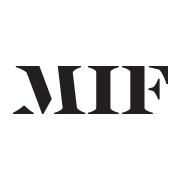 Black MIF logo on white background
