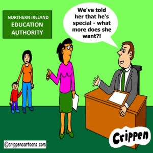 a cartoon about SEN provision in NI
