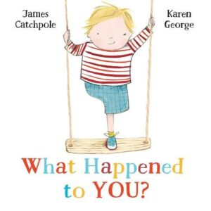 Front cover of children's book showing an illustrated boy on a swing who has one leg