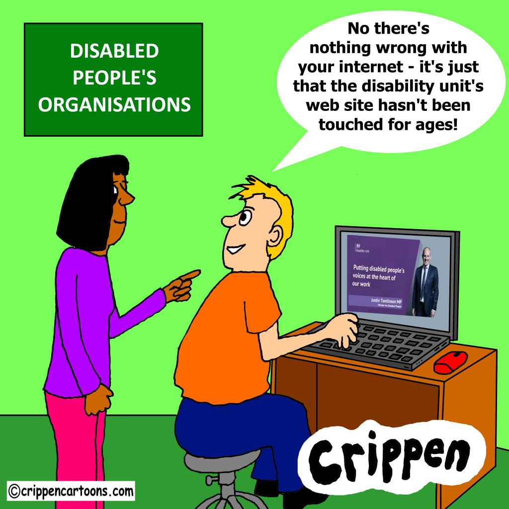 cartoon about disability unit