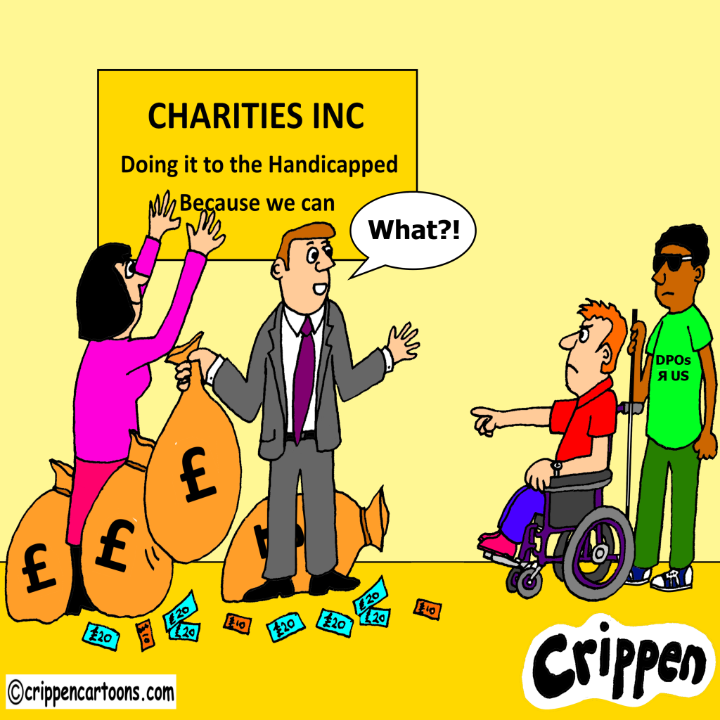 cartoon about charity funding