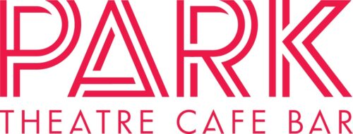 Park in large red double lined capital letters. Below in small red capitals is text that reads: Theatre Cafe Bar.