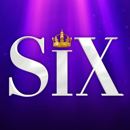 SiX in large white letters on a purple background. The dot of the i is replaced by a gold crown.