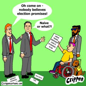 cartoon about broken promises