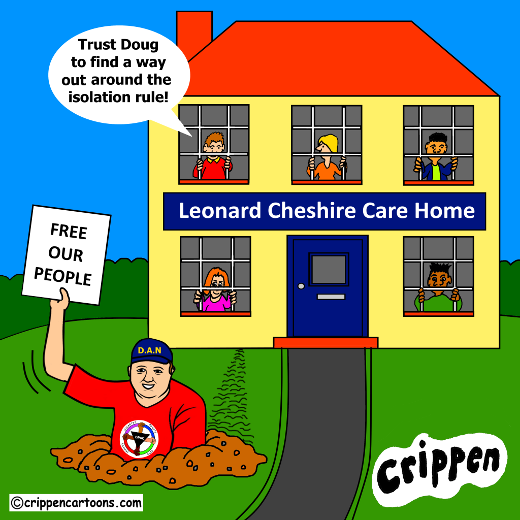 cartoon about care home covid rules