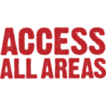 Access all Areas in red capital text on a white background