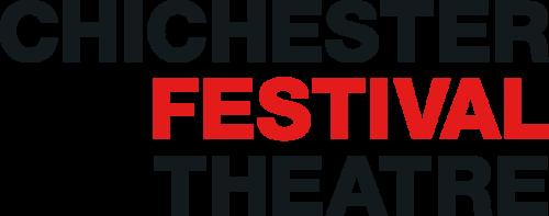 Chichester Festival Theatre Logo. Chichester in black, above festival in red, above theatre in black.