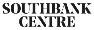 Southbank Centre in black capital text on a white background.