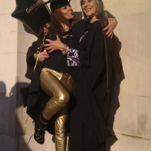 Liz and Julie at their masters degree ceremony