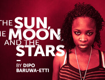 The Poster for The Sun The Moon & The Stars, featuring the main character Femi looking directly into the camera