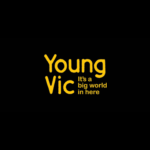 Young Vic, It's a big world in here. In yellow text on a black background.
