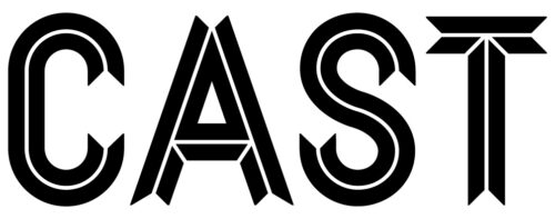 This image is Cast's logo, it is the word Cast with a white background and black letters.