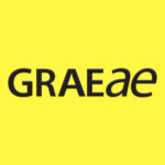 Graeae's logo which simply reads 'GRAEAE' in black text, against a bright yellow background