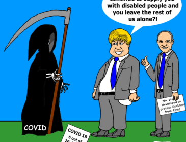 cartoon about covid deaths amongst disabled