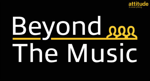 Black background with 'Beyond the Music' written in white