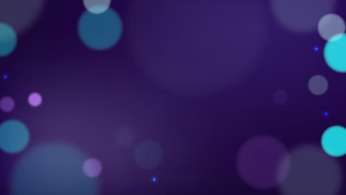 Hazy bubbles on a plain indigo background