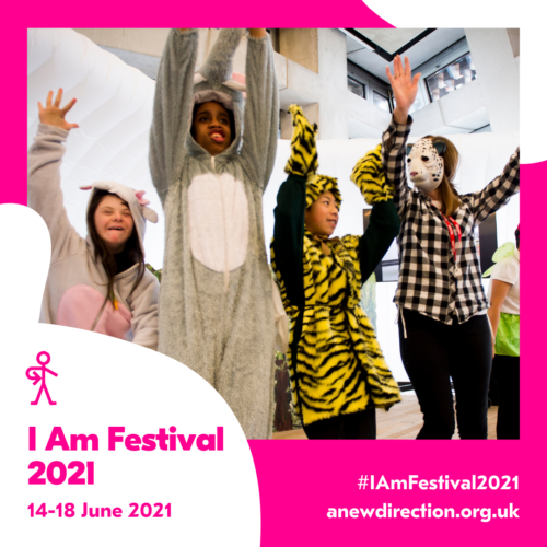 Young people taking part in a workshop at I Am Festival 2018 –credit Roger Brown for A New Direction