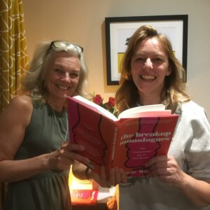 Liz and Rosie Wilby at 'The Breakup Monologues' book launch