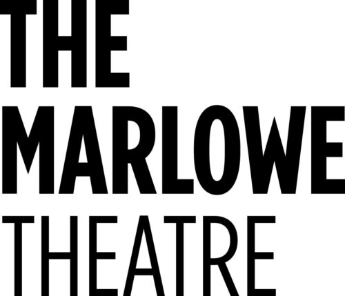 The Marlowe Theatre - bold black text on a white background