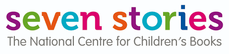 seven stories in multicoloured letter above The National Centre Children's Books in grey.