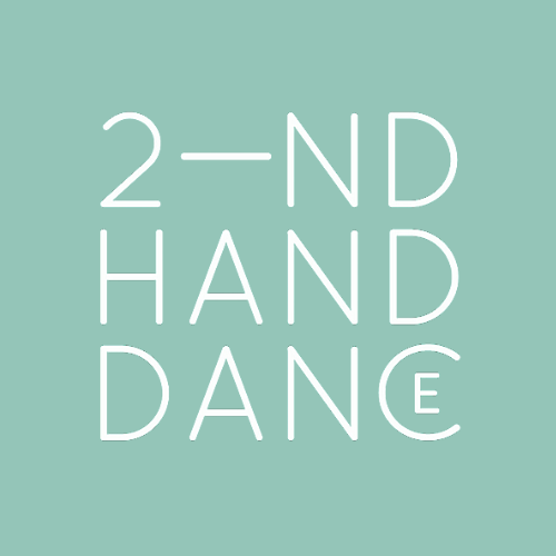 Blue background with white capital lettering that reads: 2-nd hand dance