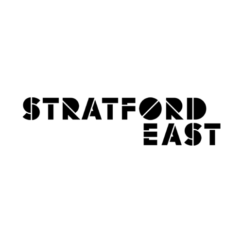 Stratford East in black bold type on a white background.