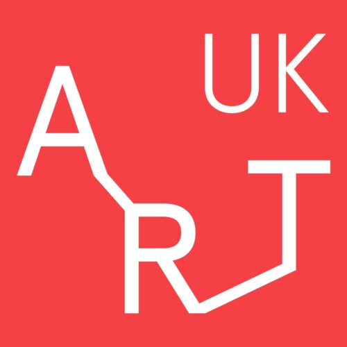 Art UK in white on a red background.